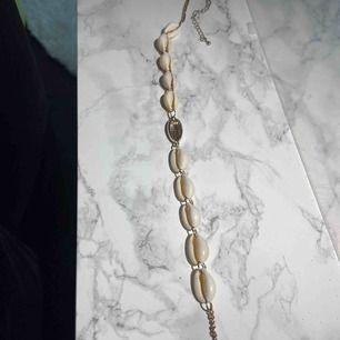 Ett jätte fint snäck halsband köpt nyligen men inte använd! Sitter jätte fint på! Frakt tillkommer!