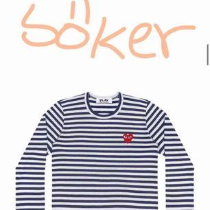 Söker en cdg tröja!!! Helst långärmad men även T-shirt! Färg spelar ingen roll:)) Storlek M/L