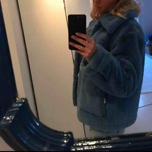 Blå päls jacka från Hm