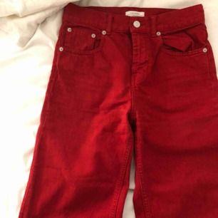 Röda Denim culottes från Zara!! Knappt använt