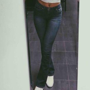 Utsvängda jeans i storlek 34  Fint skick