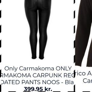 Only carakoma svarta stretsh byxor regular skinny coated storlek 48/32 . Ser ut som läder imitation jätte snygga och mode just nu.  Oanvända ej provade som nya.