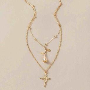 Superfint dubbelt halsband i guld!🧡