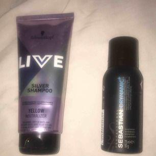 Två hårprodukter: ett silvershampoo samt ett torrschampo. Båda är oanvända. 80:- för båda eller 50:- styck💕