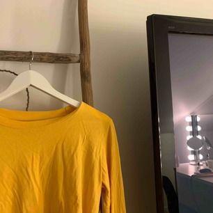 En superfin gul croppad tröja ifrån BikBok.💛I bra skick!🌼 Frakt är inräknat i priset!🌻☀️