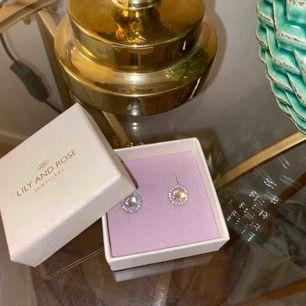 Säljer mina Lily and Rose, miss Miranda örhängen med rosa färg i mitten. Använda endast en gång och är i väldigt bra skick. Nypris 300 kr