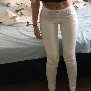 Skitsnygga vita byxor som sitter as snygg bak!! Tyvärr lite för stora i midjan för mig, passar en S/M, W28-29!! Helt oanvända men säljer billigt då jag ej använder dom!