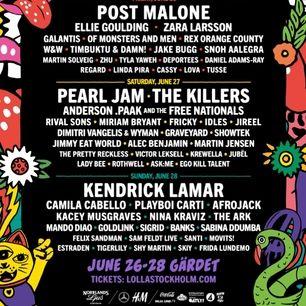 Säljer min 3 dagars biljett till lollapalooza i sommar, biljetten kan skickas via pdf