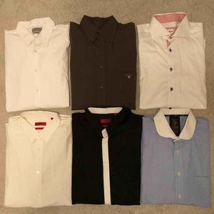 Märkes skjortor för herr i storlek L & XL Hugo Boss, Stenströms, Gant, Zara Jätte fint skick på alla. Som nya.  Kan skickas med post 📮