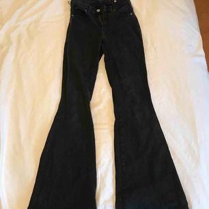 Mina fina bootcut jeans från dr denim uppsydda så de passar mig som är 1.62