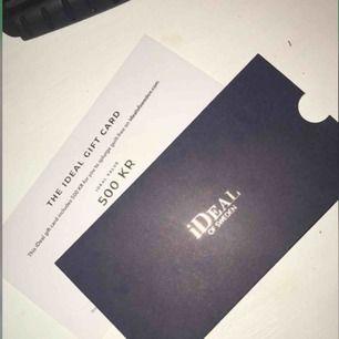 Presentkort hos ideal of sweden värde 500kr Presentkortet är giltigt fram tills 2021-01-31.  Pris kan eventuellt diskuteras vid snabb affär