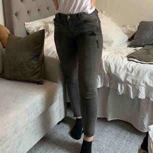 Så snygga jeans, perfekta vanliga chill gråa jeansen med lite coola slitnings detaljer. Jätte stretchiga! Super bra skick!😍