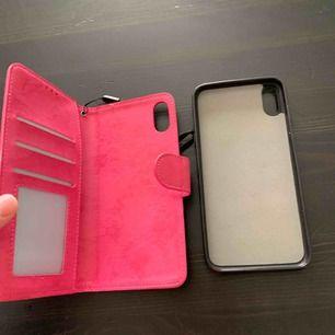 Oanvänd ny iphone xs max plånbok med skal magnet. den är ny då jag fick den men tycker inte den om. frakt ingår.