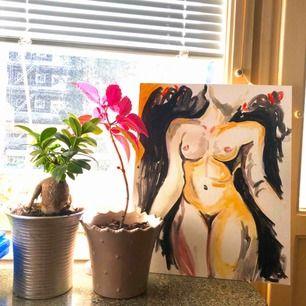 Tavla målat med akryl färger 💕