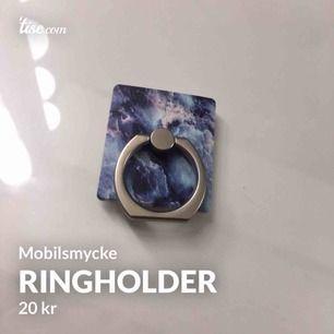 Fin ringholder som man sätter bakom telefonen 🥰 helt ny och säljes för att jag har en till. Kan frakta (11 kr)🌸