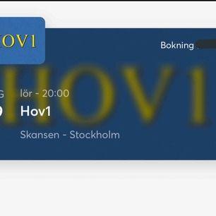 Säljer en (1) biljett till hov1 på Skansen. En vanlig ståplats