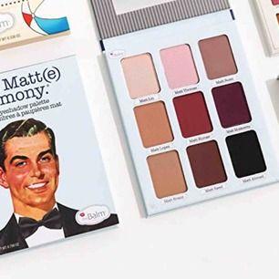 Säljer 2 oanvända The Balm Cosmetics - Meet Matt(e) Trimony - Matte Eyeshadow Palette. Helt nya och äkta! Köpta i hm för 399kr st. Säljer 1 för 250 eller båda för 450 :) kan även skickas då kunden står för frakten.