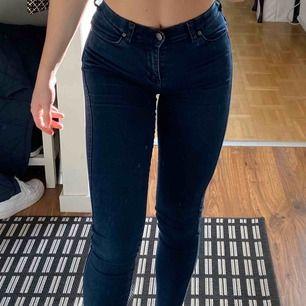 Mörka tighta jeans från Dr. denim. Använda fåtal gånger😊 Nypris:500 kr