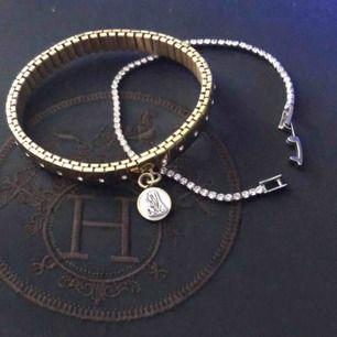 Guld SÅLD. silver armband 50kr inkl frakt