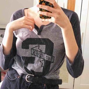 jättemjuk grå baseballtröja köpt på gap! 🍃 står storlek s men den är ganska lös så skulle sitta toppen på en m också 🌙✨ priset kan diskuteras, köparen står för frakt! 🐇