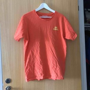 T-shirt, flamingo på ryggen. 50kr+ ev fraktkostnad.