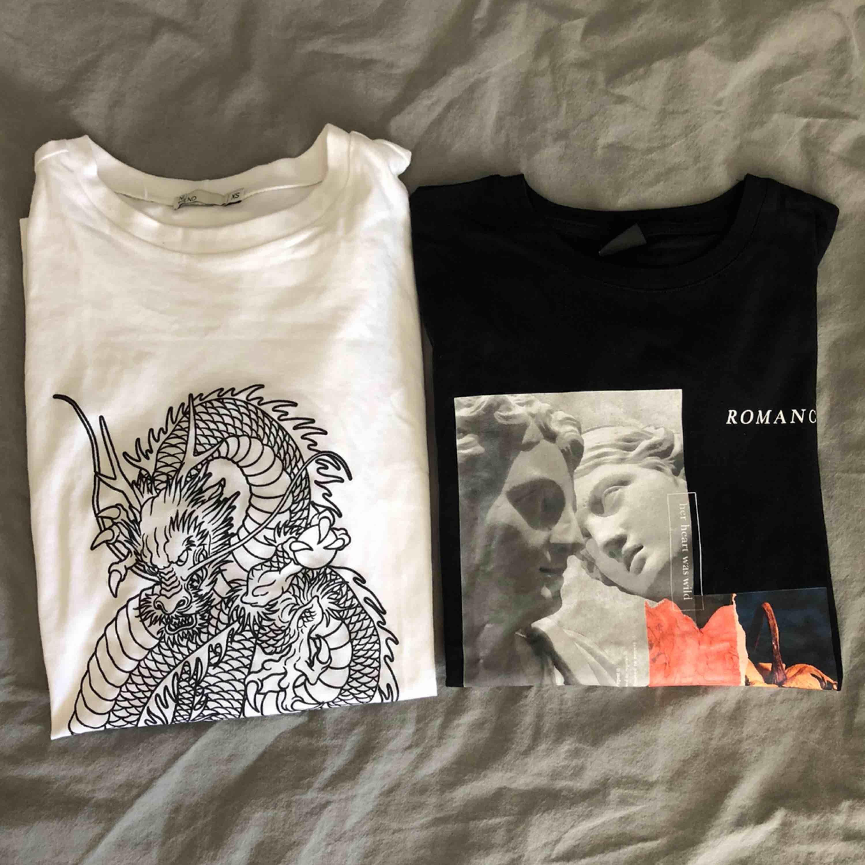 Vita tröjan är från Nelly i storlek xs Svarta är från Gina Tricot i storlek m 60kr styck 🤩. T-shirts.