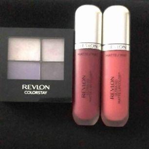 Revlon ögonskugga, testad 50kr. Revlon lipcolor matte ultra,85kr/st