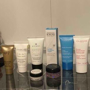 OANVÄNDA hudvårdsprodukter 30kr styck. Clarins produkterna är SÅLDA!