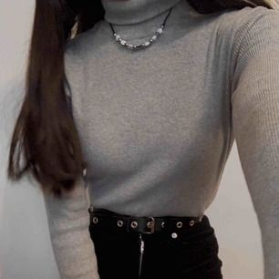 croppad polo tröja