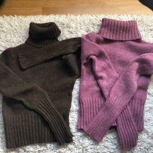 Brun och rosa stickade tröjor från LIPP, storlek S Vid köp av en: 65kr Vid köp av båda: 100kr