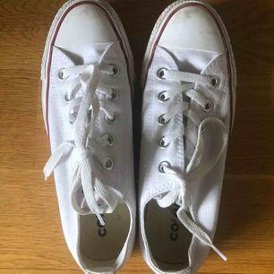 Converse, vita stl 36,5 Mycket bra skick, endast använda ett fåtal gånger.