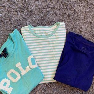 Tre t-shirts från Ralph Lauren. Alla tre för 295 eller 1 för 100