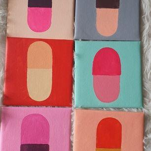 Målade några piller tavlor inspirerade av De Kylie jenner har hemma. Kom med prisförslag, köpare står för frakt ❤
