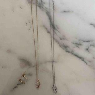 Matchade halsband + örhängen från Edblad