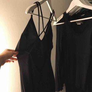 Svart figursydd klänning med krossad öppen rygg  Jättefin klänning som aldrig är använd köpt på bik bok för 300kr