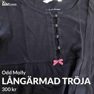 Långärmad tröja från Odd Molly. Storlek 0 motsvarar en XS/S.