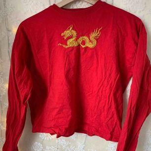 Långärmad tröja med en drake på! Från carlings
