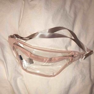 Väska som jag hade på Ariana Grandes konsert, genomskinlig