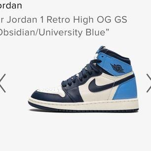 Söker Jordan 1! Helst strl 39 men 38,5 till 40 funkar också❤️