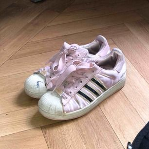 Adidas pink satin superstar