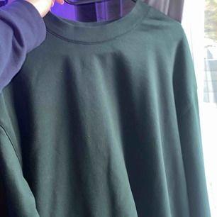 En sweatshirt från weekday i färgen grön och gott skick