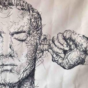 Handmålad och signerad Eminem tavla, köpt av en konstnär på Dominikanska republiken