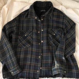 Rutig skjortjacka från zara