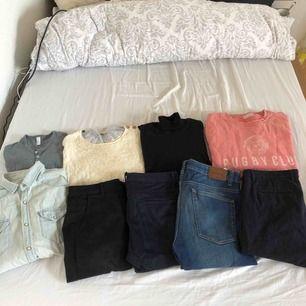 Blandade kläder från Zara, Selected Homme, Sams. Storlekar mellan M-L i överdelar och 32-34 i byxor. Bud på allt eller allting för 500 kr