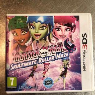 Monster high Skultimate Roller Maze spel för Nintendo 3DS Aldrig använd p.g.a att jag hade ett annat Nintendo Kan fraktas men köparen står för frakt