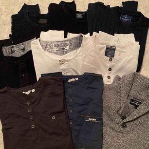 Långärmade t-shirts och tröjor i storlek 170-M, fint skick och sparsamt använda. Hämtas i Viskafors!
