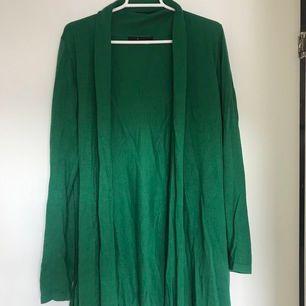 Long green summer cardigan