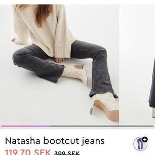 Säljer dessa slutsålda grå jeansen ifrån Gina, as snygga och sköna. Kommer ej till användning.