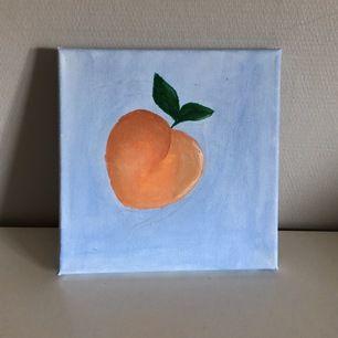 En målning jag gjort av en persika, inspirerad av call me by your name, host host basicbitch✨🍑