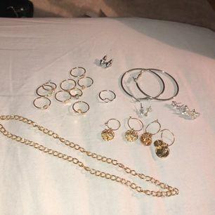 Ringar, örhängen och halsband. Allt kostar 170 +11kr frakt (för enbart guld/silver - se andra annonser)❤️